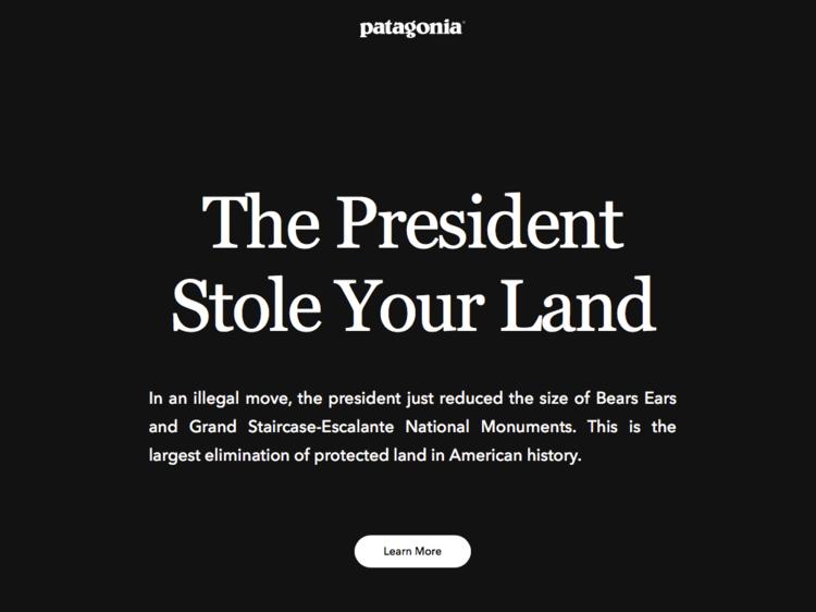 Patagonia smaschera la bugie di Trump sui National Monument 1
